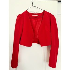 ✨CROPPED RED BLAZER 🔥
